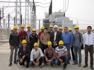 بازدید دانشجویان از پست برق ۲۳۰ کیلوولت شمال یزد
