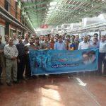 گزارش تصویری/ بازدید کارکنان شرکت برق منطقه ای یزد از کارخانه شیشه اردکان