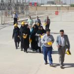 بازدید کارکنان و رابطان خبری روابط عمومی شرکت برق منطقهای یزد از پست شمال یزد