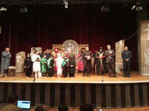 اجرای تئاتر عاشورایی خورشید کاروان در شرکت برق منطقهای یزد
