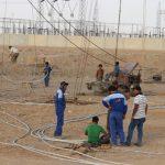 گزارش تصویری از تلاش بی وقفه برای راه اندازی پست شهید سامعی