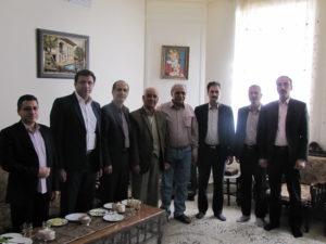 دیدار مدیران شرکت برق منطقهای یزد با همکار بازنشسته