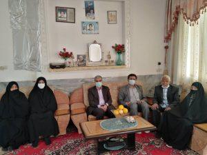 دیدار مدیران برق منطقهای یزد با خانواده شهید شرکت