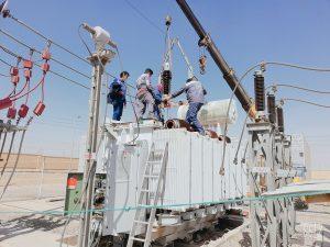 تعویض بوشینگهای ۶۳ کیلوولت ترانسفورماتورهای پست ترک آباد برق منطقهای یزد