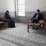 دیدار مدیرعامل شرکت برق منطقهای یزد با خانواده شهید