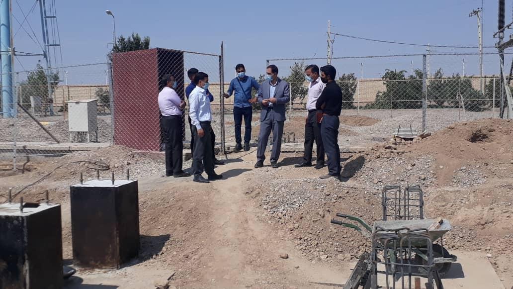 بازدید مدیرعامل برق منطقهای یزد از پروژه توسعه پست ۱۳۲ کیلوولت مروست