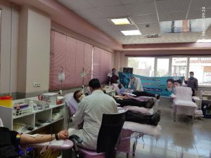 مشارکت بسیجیان برق منطقهای یزد در پویش اهدای خون اهدای زندگی