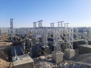 بازدید مدیرعامل برق منطقهای یزد از پروژه احداث پست ۲۳۰ کیلوولت ساغند